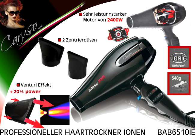 babyliss pro f n bab6510ie haartrockner caruso ionic 2400w f hn ebay. Black Bedroom Furniture Sets. Home Design Ideas
